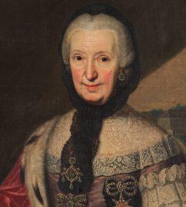 Portrait der Fürstin Franziska Christine in Öl